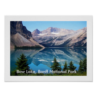 Bow Lake, Banff National Park, Canada Poster
