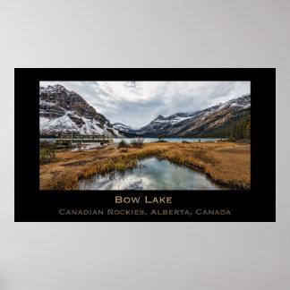 Bow Lake, Canadian Rockies, Alberta, Canada Poster