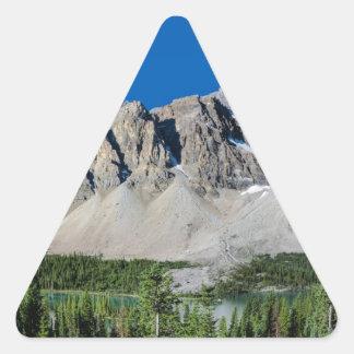 Bow Lake Icefields Parkway Alberta Canada Triangle Sticker