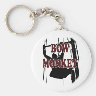 Bow Monkey Key Ring