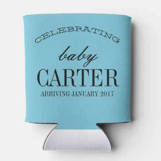 bow of beau gender reveal baby shower can cooler