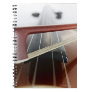 Bow on Violin Spiral Notebook