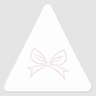 Bow Outline Triangle Sticker
