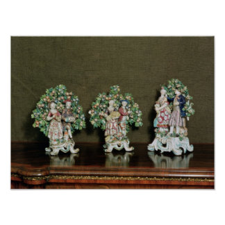 Bow porcelain figures, 1761 poster
