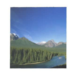 Bow River near Banff National Park in Alberta Notepad