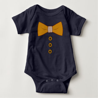 Bow Tie and Buttons Baby Onsie Infant Creeper