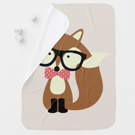 Bow Tie and Glasses Hipster Brown Fox Baby