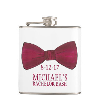 Bow Tie Bachelor Party Groom Wedding Flask Favor