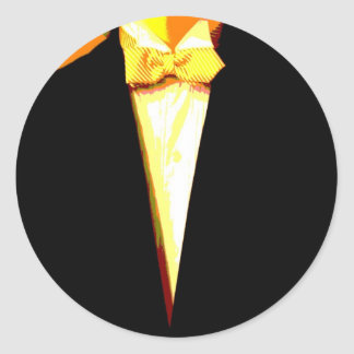 Bow Tie Beau Classic Round Sticker