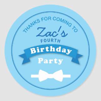 Bow Tie Birthday Party Thank you Sticker