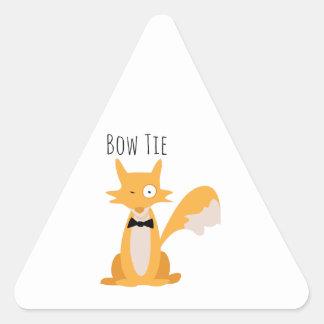 Bow Tie Fox Triangle Sticker