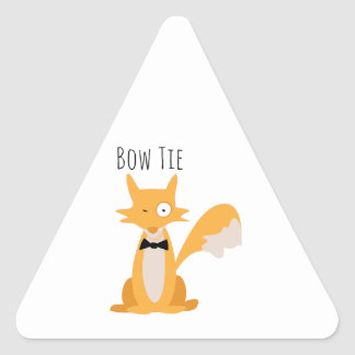 Bow Tie Fox Triangle Sticker