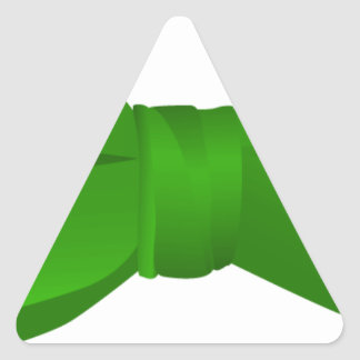 bow tie_green triangle stickers