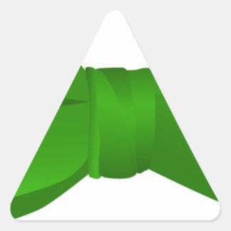 bow tie_green triangle sticker