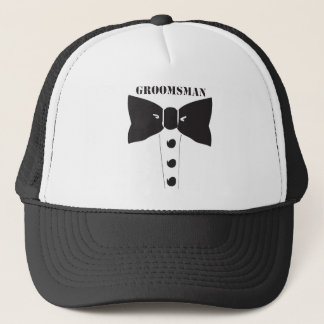 Bow Tie Groomsman Trucker Hat