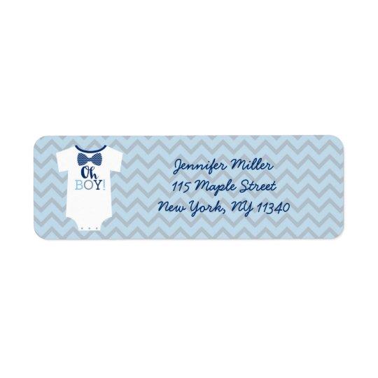 Bow Tie Little Man Baby Shower Address