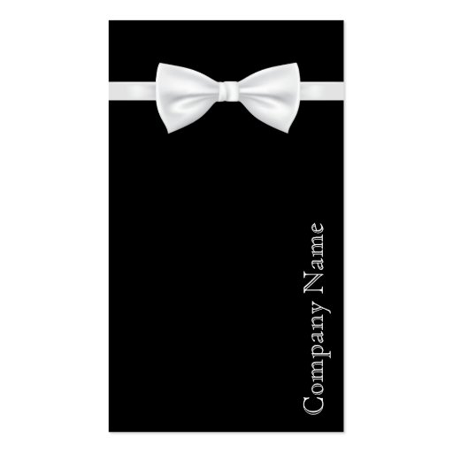 Bow Tie Men's Wear Business Card Business Card Templates