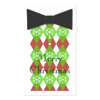 Bow Tie Merry Christmas Cards Double-Sided Standard Business Cards (Pack Of 100)