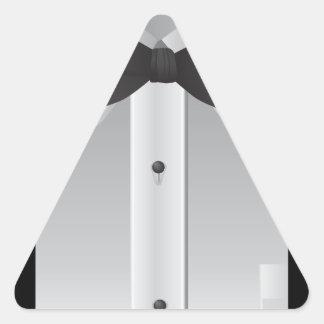 Bow tie triangle sticker