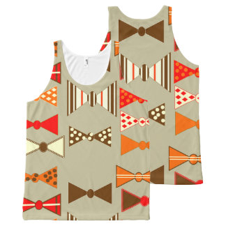 Bow Ties All-Over Print Tank Top