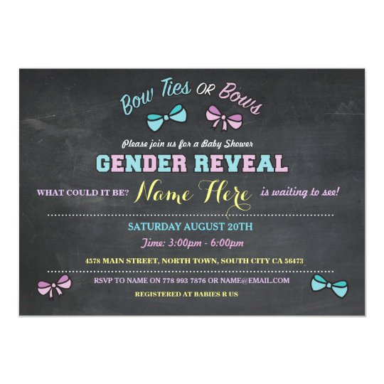 Bow Ties or Bows Gender Reveal Baby Shower