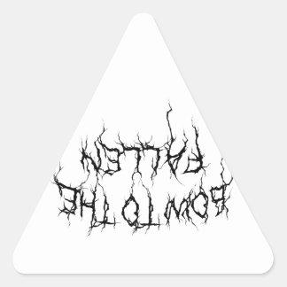 Bow to the Fallen Merch Triangle Sticker