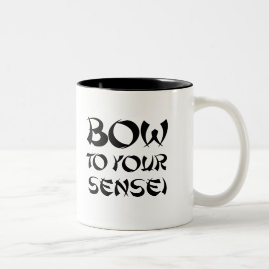 BOW TO YOUR SENSEI T-shirt Two-Tone Coffee Mug
