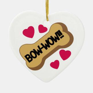 Bow-Wow Ceramic Heart Decoration
