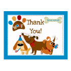 Bow Wow Dog Thank You Postcard