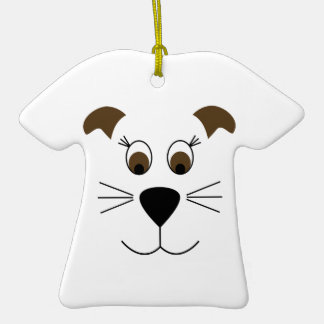 Bow Wow Puppy Face Ceramic T-Shirt Decoration