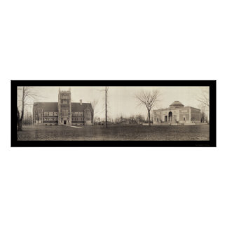 Bowdoin College, Maine Photo 1910 Poster