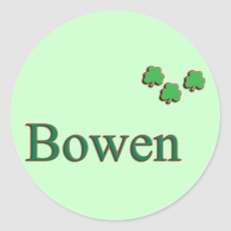 Bowen Family Round Sticker