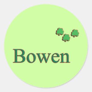Bowen Family Round Sticker