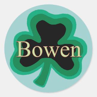 Bowen Family Round Stickers