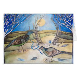 Bower Birds Card