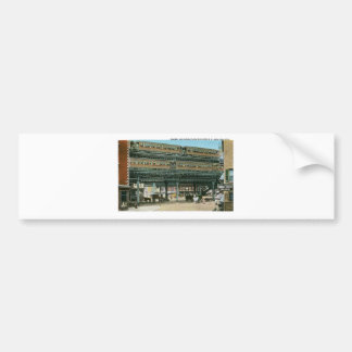 Bowery and Doubledeck Elevated R.R., NYC Bumper Sticker