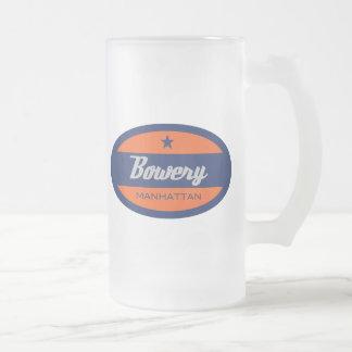 Bowery Frosted Glass Mug