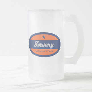 Bowery 16 Oz Frosted Glass Beer Mug