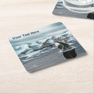 Bowhead Whale Square Paper Coaster