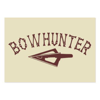 Bowhunter With Arrowhead Large Business Cards (Pack Of 100)