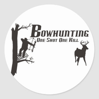 bowhunting t-shirts round sticker