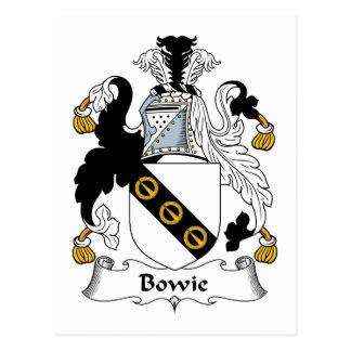 Bowie Family Crest Postcard
