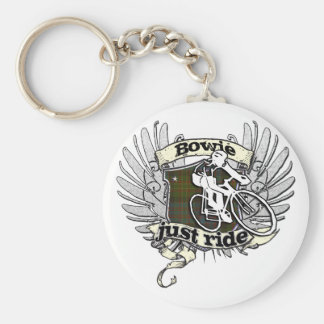 Bowie Just Ride Basic Round Button Key Ring