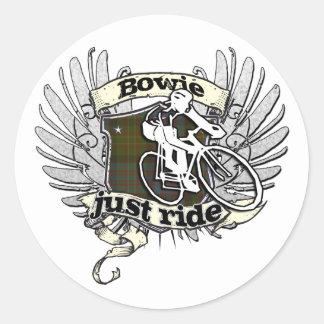 Bowie Just Ride Round Sticker