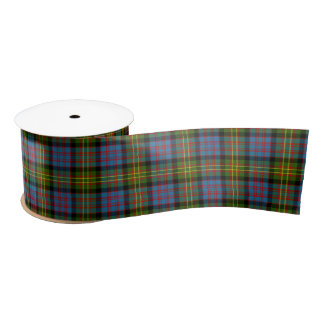 Bowie Scottish Tartan Pattern Satin Ribbon