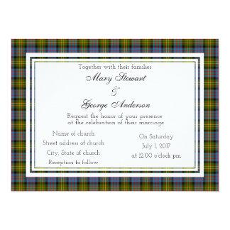 Bowie Scottish Wedding Invitation