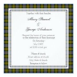 Bowie Scottish Wedding Square Invitation