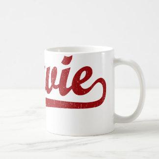 Bowie script logo in red basic white mug