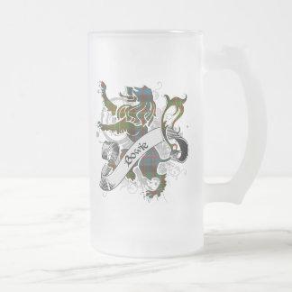 Bowie Tartan Lion Frosted Glass Mug