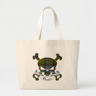 Bowie Tartan Skull Tote Bag